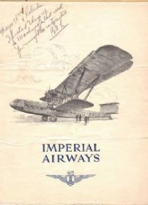 Vintage Imperial Airways Flyer poster 1931